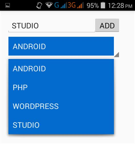 xamarin spinner tutorial after item add android exles