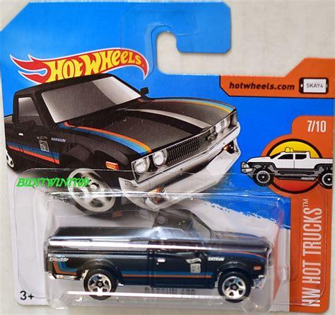 Hotwheels Wheels Datsun 620 wheels 2017 hw truck datsun 620 black card