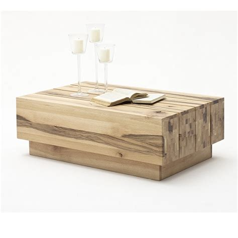 montrose wooden coffee table rectangular in oak and