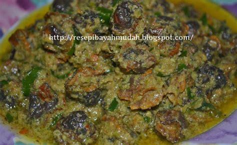 Kerang Hijau resepi kerang masak rendang hijau