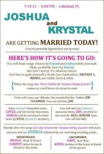 Wedding Program Ideas Templates Program Oh For Cute Wedding Programs Menus Pinterest