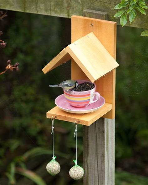 bird feeder crafts pires e xicara alimentador de