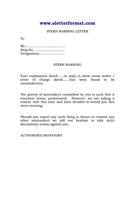 best photos of employee warning letter employee warning