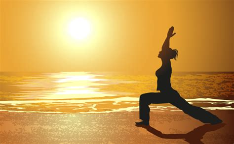 ppt templates free download yoga creative yoga and sunset vector 03 vector people free