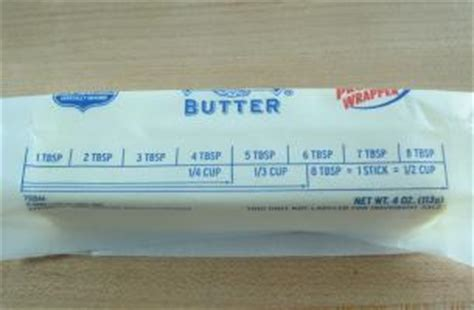 1 2 stick butter equals what