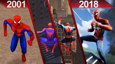 evolution spider man games graphics pc