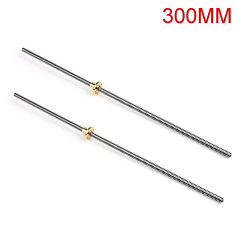 300mm Lead T8 2 D8 3d Printer Nut 300 400 500mm stainless steel t8 2 d8 trapezoidal lead