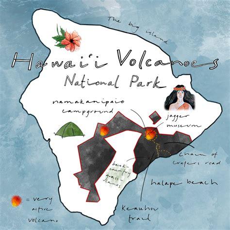 volcanoes in hawaii map map of hawaii volcanoes national park bnhspine