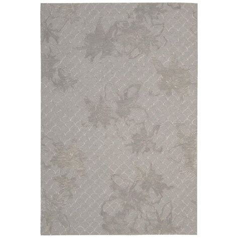 Area Rugs Overstock Nourison Overstock Escalade Silver 8 Ft X 10 Ft 6 In Area Rug 263230 The Home Depot