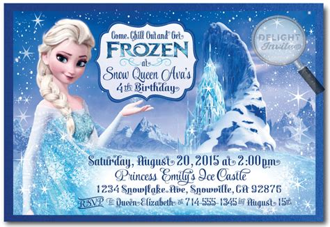 frozen birthday card template frozen birthday invitations best invitations card ideas