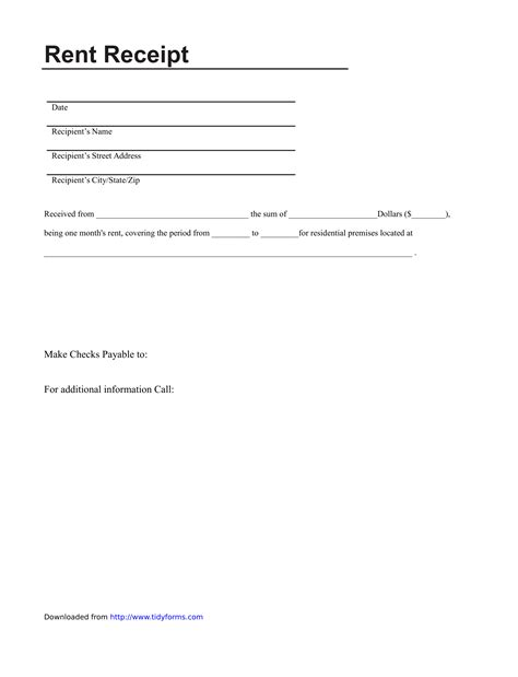 template rent receipt template free weekly operations