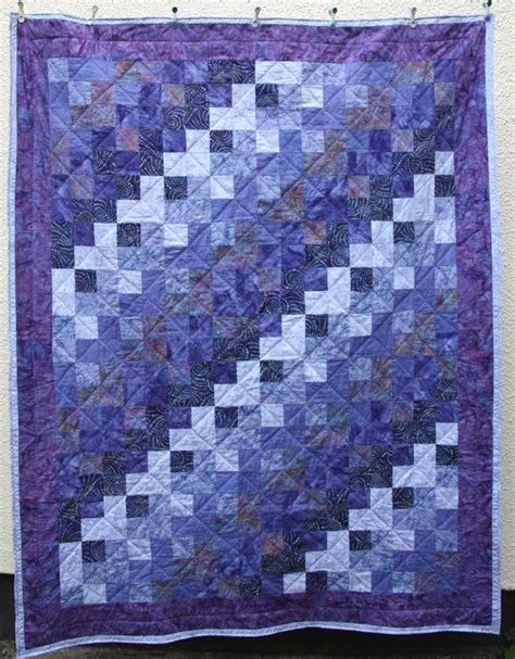 Batik Patchwork Quilt - batik patchwork quilt purple made to order