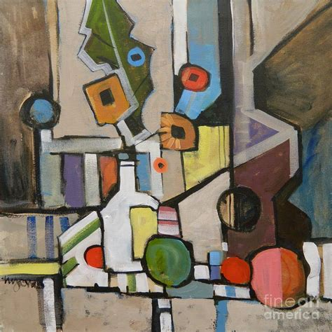 cubist paintings cubist still with a guitar painting by micheal jones