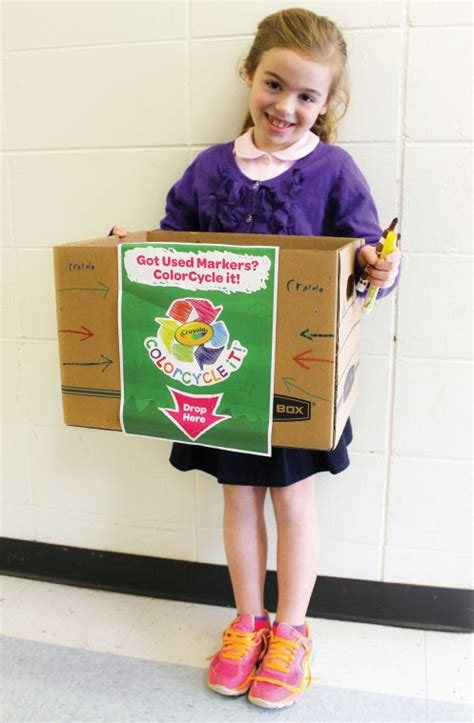 crayola color cycle dunbar student starts marker recycling program on cus