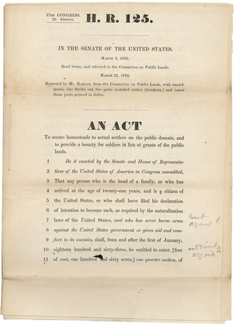 Alaska Records Act The Homestead Act Anniversary May 20 1862