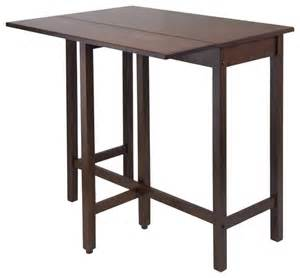 Drop Leaf Bar Table Winsome Lynnwood Drop Leaf High Table In Antique Walnut Wayfair Indoor Pub And Bistro Tables