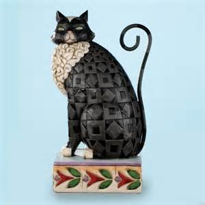 jim shore black cat figurine lucky cat s meow ii pinterest