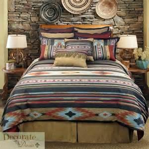 Santa fe queen comforter 4 pc bed set veratex earth tones tribal print