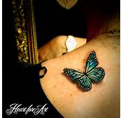 3D Realistic Butterfly Tattoo