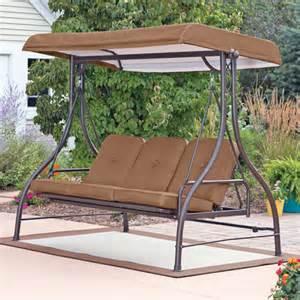 Ridge converting outdoor swing hammock brown seats 3 walmart com