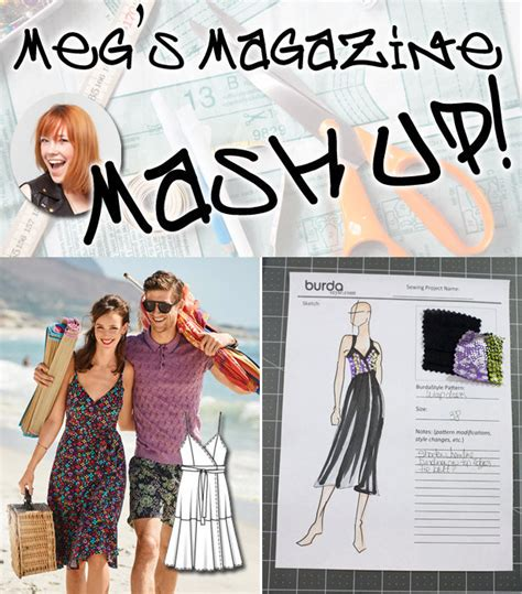 clothes pattern magazine meg s magazine mash up dress pattern debut sewing blog