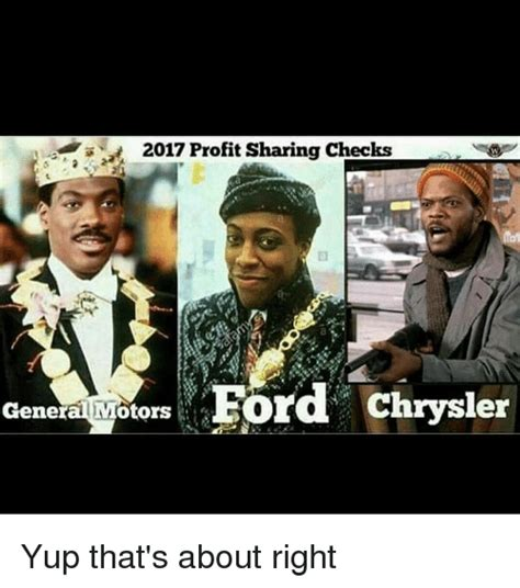 Chrysler Background Check 2017 Profit Checks Ford Chrysler General Motors Yup That S About Right Meme