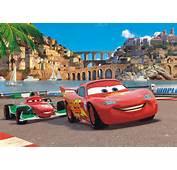 Fototapete Tapete Disney Cars 2 McQueen &amp Bernoulli Foto 160 X 115 Cm