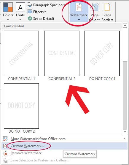 cara membuat watermark office 2013 cara mudah menyisipkan watermark di microsoft office word