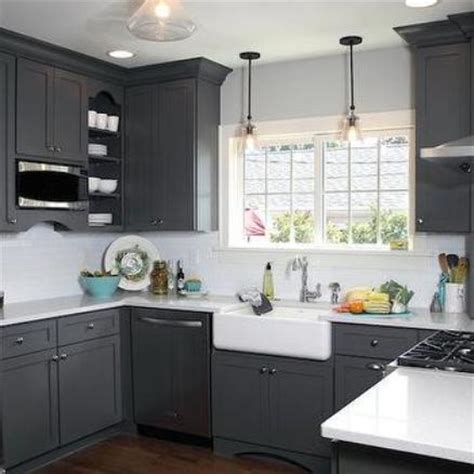 Best Paint Colors For Kitchen With Oak Cabinets by Dark Grey Kitchen Cabinets Home Design
