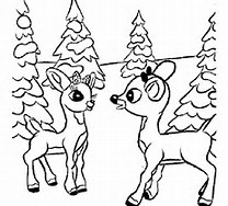 Christmas Rudolph Reindeer Coloring Pages
