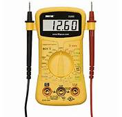How To Use Electric Multimeter  Nccrops