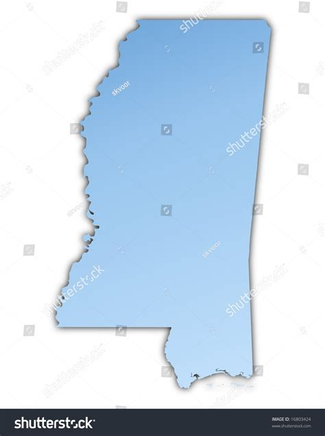 usa light map mississippi usa map light blue map with shadow high