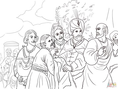 Coloring Picture Of Naaman Coloring Pages Elisha Coloring Page