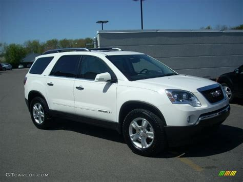 2008 summit white gmc acadia slt 28802600 gtcarlot car color galleries