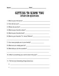 Getting to know your students is really important finding out their