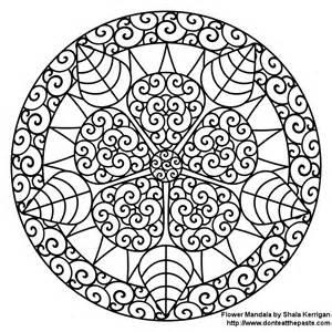 Mandala Coloring Pages Nature Rose  sketch template