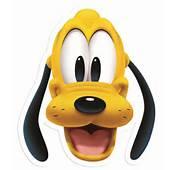 Pluto Celebrity Cartone Viso Maschera  Singolo Tuttoperunpartyit