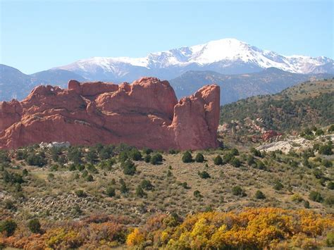 Garden Of The Gods Road Colorado Springs Co Pikes Peak And Garden Of The Gods