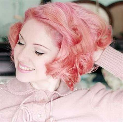 short hairstyles pink color 2016 short hair color trends the best short hairstyles