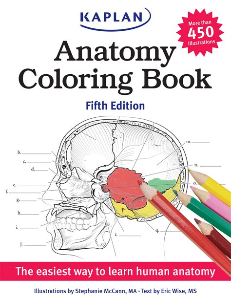 kaplan anatomy coloring book fourth edition eric wise official publisher page simon schuster canada