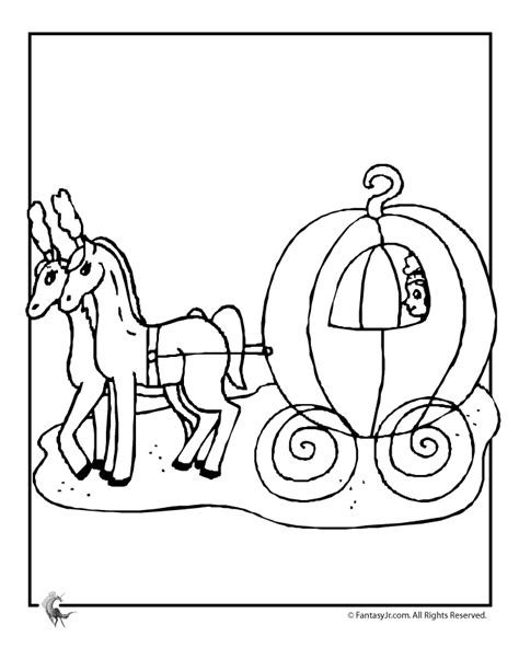 coloring pages and carriage cinderella s pumpkin carraige coloring page woo jr