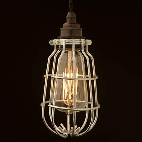 pendant light cage enclosed bulb cage pendant