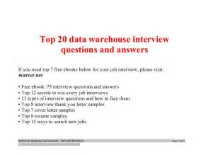 top data warehouse questions and answers