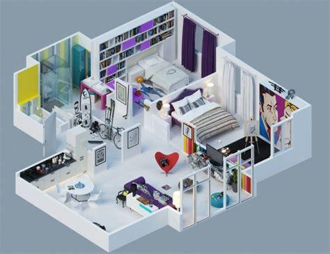 Home Designer Architectural 2016 by Plan Maison 3d D Appartement 2 Pi 232 Ces En 60 Exemples