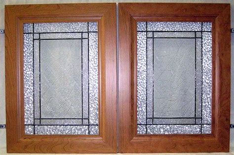 Custom Glass Cabinet Doors Custom Kitchen Cabinet Doors Clear Textures In Stained Glass 2 By Hues In Glass Via Flickr