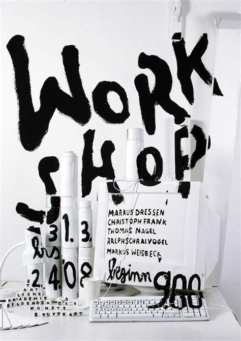 werkstatt poster schloz typo graphic posters