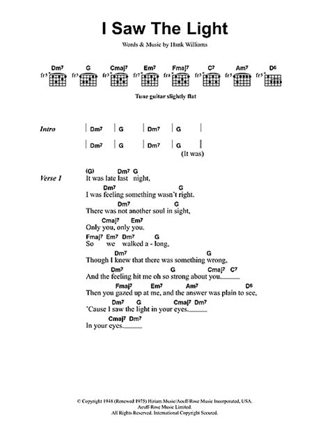 Song I Saw The Light by I Saw The Light Sheet By Todd Rundgren Lyrics