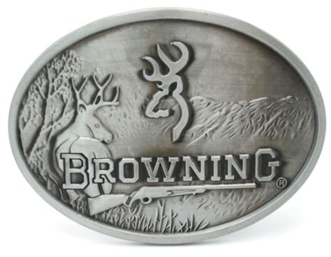 browning belt buckle 8 5cm pewter finish in buckles