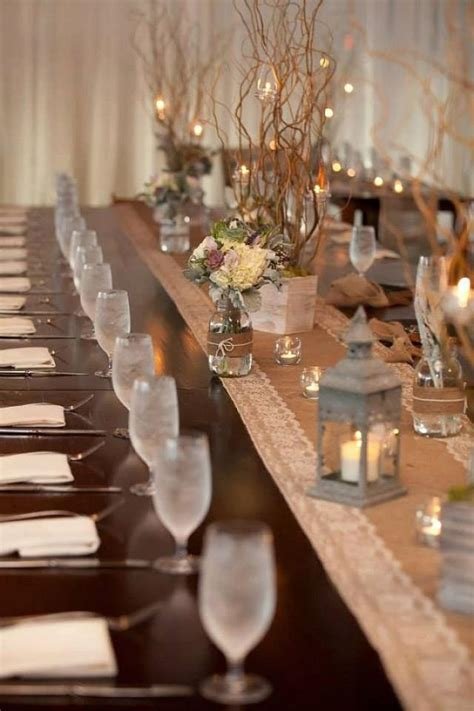 Burlap Table Runners For Wedding by Rustic Charm Wedding Burlap And Lace Table Runner