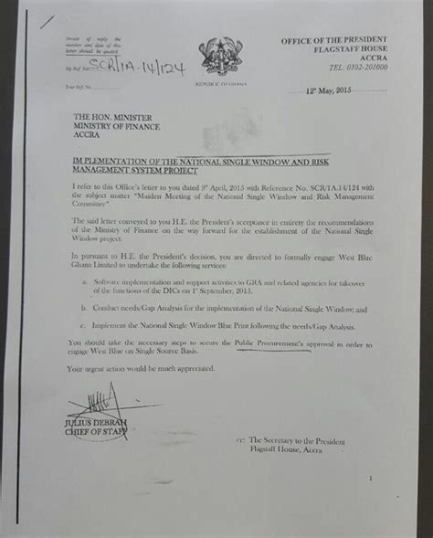 Letter Gana Story President Mahama S Gift From Burkinabe Contractor